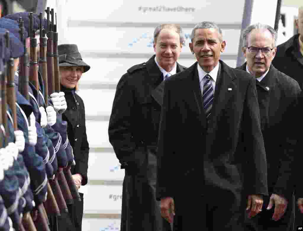 صدر اوباما اتوار کو دور روزہ دورے پر جرمنی پہنچے