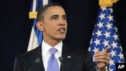 سهرۆکی وڵاته یهکگرتووهکانی ئهمهریکا براک ئۆباما له میانهی کۆنفرانسێـکی ڕۆژنامهوانی له سان سلڤادۆر، چوارشهممه 23 ی سێی 2011