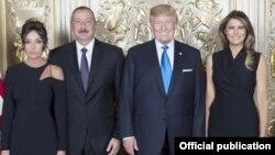 Azərbaycan prezidenti İlham Əliyev və xanımı Mehriban Əliyeva, ABŞ prezidenti Donald Tramp və xanımı Melaniya Tramp