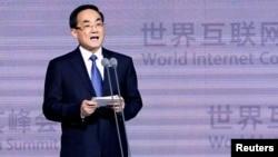Menteri urusan siber China, Xu Lin membuka konferensi internet dunia di Wuzhen, Zhejiang, China (foto: ilustrasi).