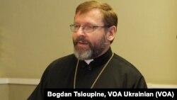 Предстоятель УГКЦ Патріарх Святослав (Шевчук) у Лондоні 26 жовтня 2017.