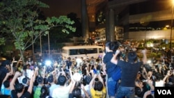 香港泛民主派抗議訪港京官