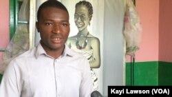 Jean Yoabole, ancien pensionnaire de la maison St Augustin de l'ONG Vivre dans l'espérance, à Dapaong, Togo, 15 mai 2017. (VOA/Kayi Lawson)