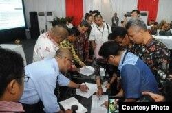 KPU selalu transparan dalam proses penghitungan suara. (Foto courtesy: KPU RI)