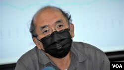 鍾劍華表示,支聯會等公民社會組織, 在國安法下被迫解散,會令國際社會覺得一國兩制已經名存實亡。(美國之音湯惠芸)