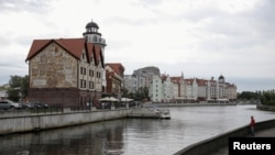 "A general view shows the ""Fishing Village"" ethnographic, craft and trade center in the Baltic Sea port of Kaliningrad, Russia."