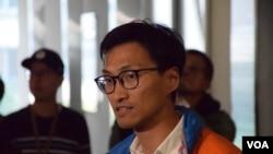 香港自決派立法會議員朱凱迪 (美國之音湯惠芸 拍攝)