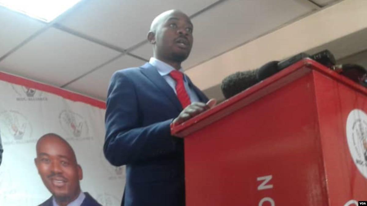 Interview Zimbabwe Opposition MDC Alliance Leader Nelson Chamisa