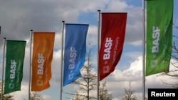 德國化學公司巴斯夫公司的旗幟 。