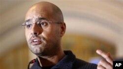 Seif al Islam, le fils de l'ex-dictateur libyen Mouammar Kadhafi, le 9 juillet 2012.