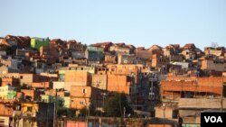 Favelas de Rio de Janeiro au Brésil
