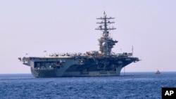 미군 구축함 드와이트 D 아이젠하워 호. (자료사진)