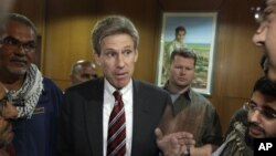 Dubes AS untuk Libya, J. Christopher Stevens berada di Libya, 11 April 2011.