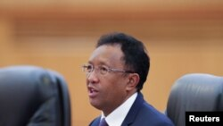 Le président malgache Hery Rajaonarimampianina, 27 mars 2017.