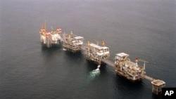 Plataforma petrolífera ao largo de Cabinda
