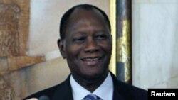 Le président Ouattara de la Cote d'Ivoire