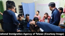Các du khách Việt bị bắt tại Đài Loan vào ngày 26/12/2018.