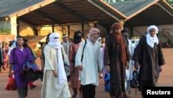 馬里政府釋放的部份叛亂分子