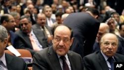 El primer ministro iraquí Nouri al-Maliki prometió buscar un tercer mandato.