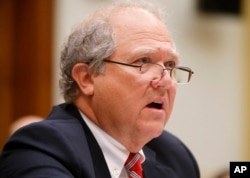 John F. Sopko, special inspector general for Afghanistan Reconstruction (SIGAR), testifies on Capitol Hill in Washington before the House Foreign Affairs subcommittee on the Middle East and North Africa.