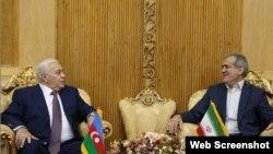 Azərbaycan Parlamentinin sədri Oqtay Əsədov və İran Parlamenti sədrinin birinci müavini Məsud Pezeşkiyan