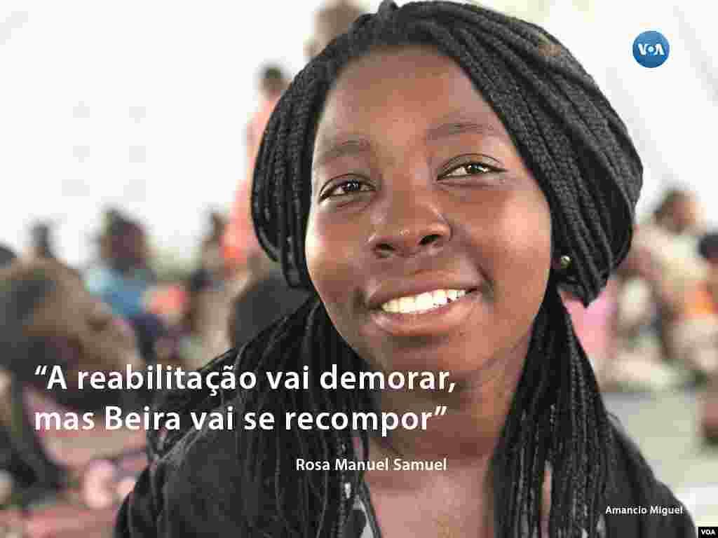 Rosa Samuel, educadora infantil, da Associação Kugarissica - conheça a sua história seguindo a #retratosidai ou http://bit.ly/2Gz-VOA no Instagram da VOA Portugues