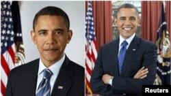 Foto de la izquierda, 13 de enero de 2009 y a la derecha el nuevo retrato oficial captado en diciembre pasado.