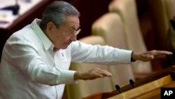 Ông Castro xuất hiện và đọc diễn văn tại Quốc hội Cuba hôm 20/12.