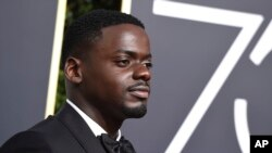 Daniel Kaluuya arrives at the 75th annual Golden Globe Awards on Sunday, Jan. 7, 2018, in Beverly Hills, Calif. (Photo by Jordan Strauss/Invision/AP)