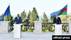 Ilham Əliyev və Şarl Mişel