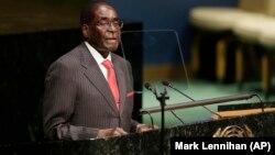 UMugabe esethula umbiko wakhe emhlanganweni weUnited Nations ngomnyaka ka2016.