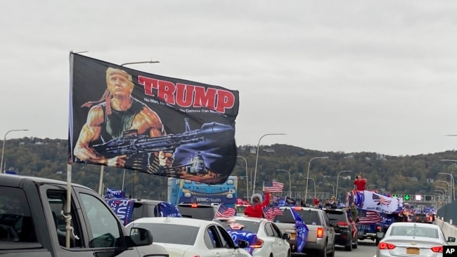 Re-Elect Donald Trump Caravan Rally in New York State - 11/1/20