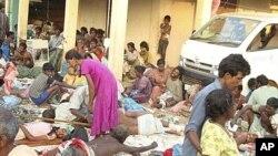 سری لنکا۔ خانہ جنگی سے متاثرہ افراد۔ (فائل)