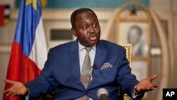 中非共和國總統博齊澤今年1月首都班吉總統府會見傳媒