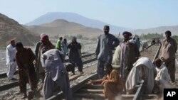 ریلوے کے ڈویژنل سپرٹنڈنٹ عامر علی نے وائس آف امر یکہ کو بتایا ہے کہ کوئٹہ تفتان ریلوے کی پٹری 1920ء میں بچھائی گئی تھی جسے مرمت کی سخت ضرورت ہے۔ (فائل فوٹو)
