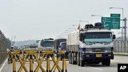 韩国7月26日运送300顿面粉前往朝鲜途中
