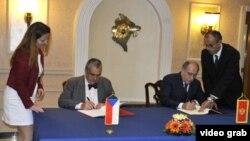 Ministri inostranih poslova Češke Republike i Crne Gore, Milan Roćen i Karl Švarcenberg