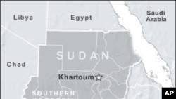 蘇丹與南蘇丹位置圖。
