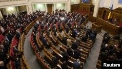 乌克兰议会就罢黜总统亚努科维奇进行表决。(资料照)