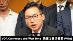 公民黨黨魁楊岳橋, 攝影:美國之音湯惠芸