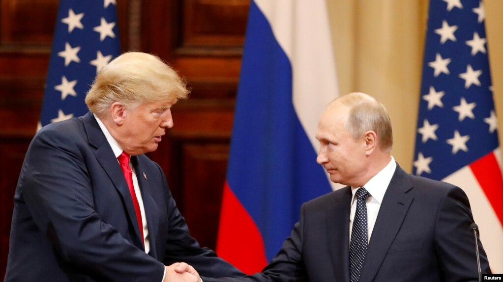 Трамп и Путин в Хельсинки. 16 июля 2018 года.