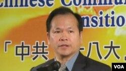 台湾陆委会副主委林祖嘉(美国之音张佩芝拍摄)