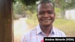 Landry Louboueya, interpellé par la police pour avoir dénoncé une dérive de la douane, à Brazzaville le 21 juillet 2021.