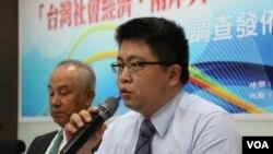 新台湾国策智库副执行长林廷辉(美国之音杨明拍摄)