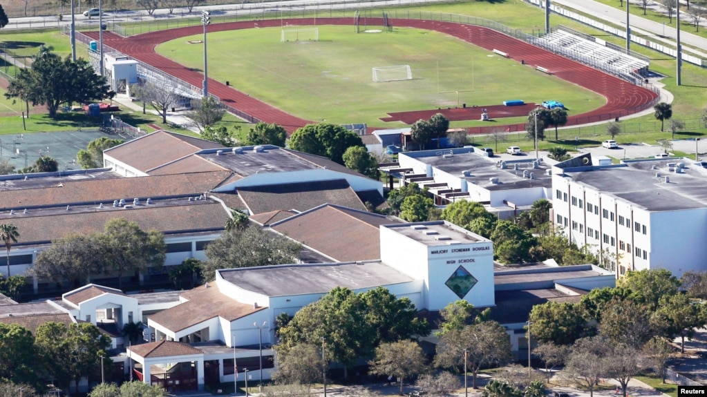 File An Aerial View Shows Marjory Stoneman Douglas High School Following A Mass Shooting In