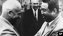 Ким Ир Сен и Никита Хрущев, 1961. AP Photo