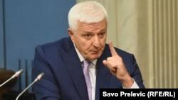 ARHIVA - Premijer Crne Gore Duško Marković u parlamentu 17. jula 2019. (Foto: RFE/RL/Savo Prelević)