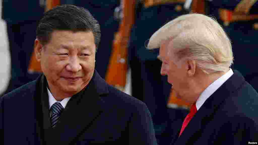President Trump meets China's President Xi Jinping.