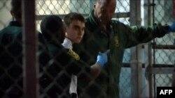 This video screen grab image shows shooting suspect Nikolas Cruz on Feb. 15, 2018 at Broward County Jail in Ft. Lauderdale, Florida.