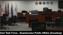 Зал суда в тюрьме Гуантанамо